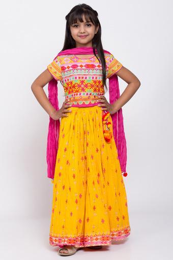 BIBA GIRLS -  YellowIndianwear - Main