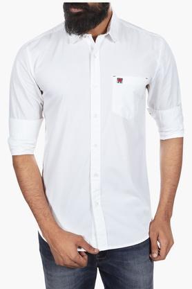 Wrangler Formal Shirts (Men's) - Mens Regular Fit Solid Shirt