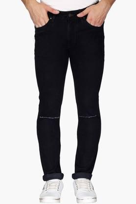 WROGNMens 5 Pocket Slim Fit Distressed Jeans