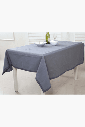 MASPAR Space Dyed Band Grey 4 Seater Table Cover