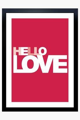 CRUDE AREA Multi Colour Hello Love Printed Paper Poster  ...