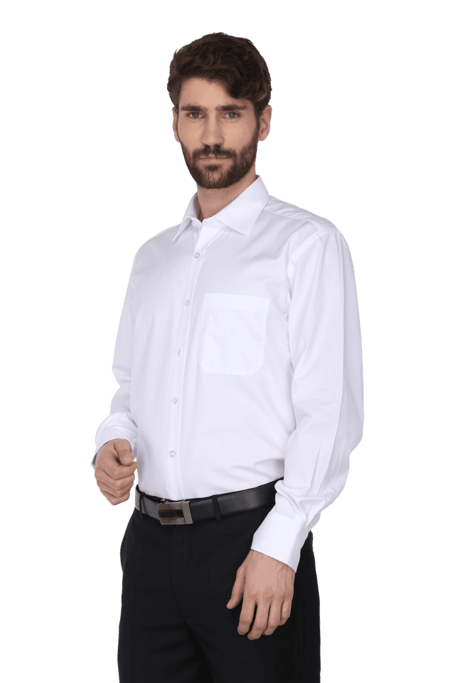 Mens Clasic Slim Fit Formal Solid Shirt