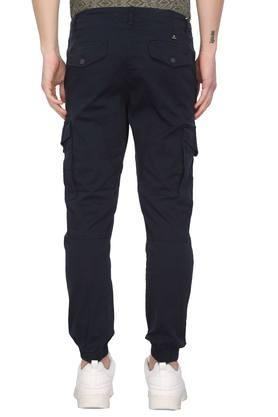 Mens 6 Pocket Solid Cargo Pants