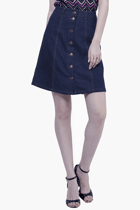 Womens Denim Midi Skirt