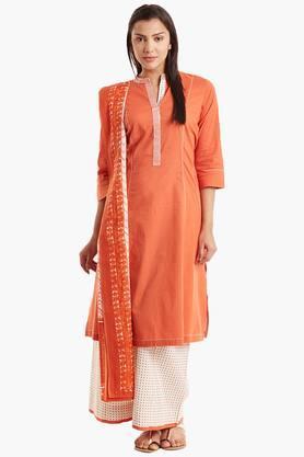 BIBAWomens Cotton A-Line Suit Set