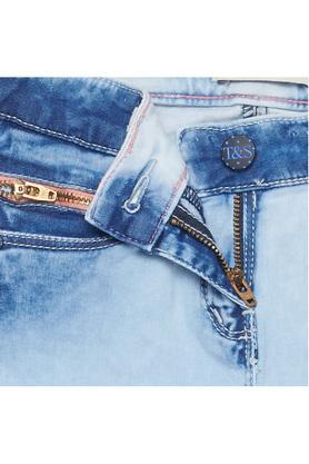 Girls Slim Fit Rinse Wash Jeans