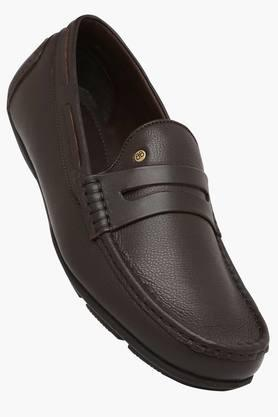 BLACKBERRYS Mens Leather Slip On Formal Loafers  ...