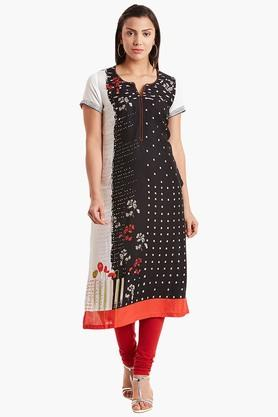 BIBA Womens Viscose Straight Kurta - 202178381