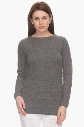 MSTAKENWomens Basic Ribbed Sweater (Buy For 4500 And Get 1000 Off)
