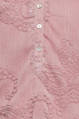 Womens Mandarin Collar Lace Tunic