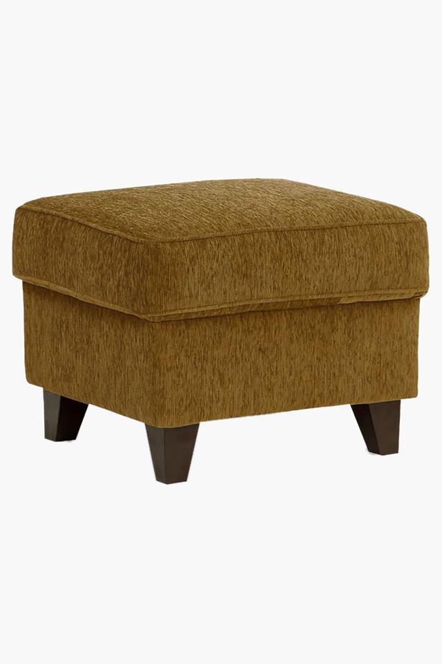 Scarlet Rust Fabric Sofa (Sofa Pouf)