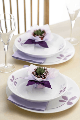 CORELLE Asia Warm Pansies (Set Of 6) - Dinner Plate