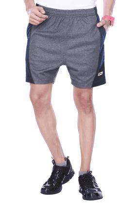 BLACK PANTHERMens Flat Front Regular Fit Solid Shorts - 8894554