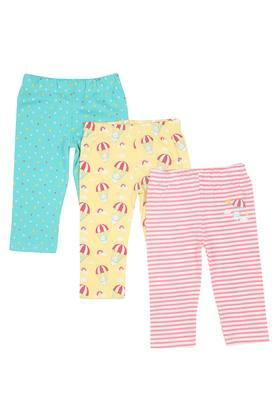 Girls Stripe and Printed Pyjamas Pack of 3