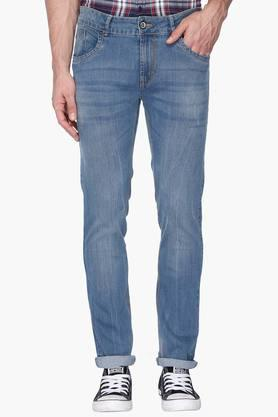 FLYING MACHINEMens Slim Fit Mild Wash Jeans (Michael Fit) - 201331547