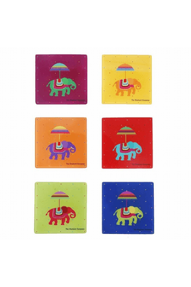 THE ELEPHANT COMPANY Acrylic Coasters - Flying Elephants