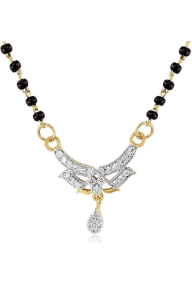 MAHIMahi Daily Wear Fashion Mangalsutra Set Of Brass Alloy With CZ For Women NL1101479G