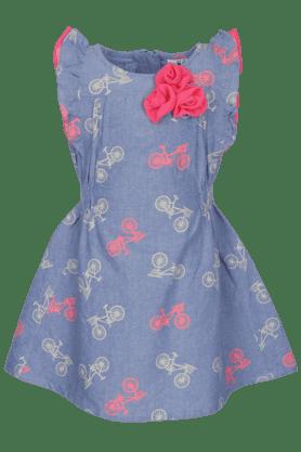 Girls Printed Short Sleeves Dress