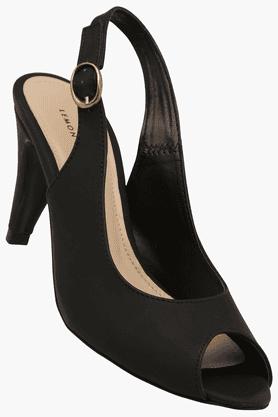 LEMON & PEPPERWomens Ethnic Ankle Buckle Closure Heel Sandal