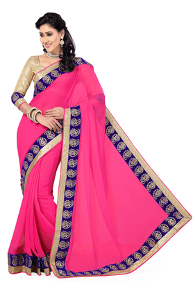 DEMARCA Women Chiffon Saree - 9874436