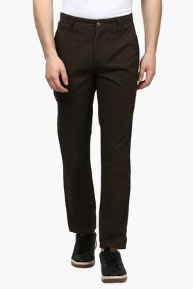 PARX Mens Slim Fit 4 Pocket Solid Trousers  ... - 202134163