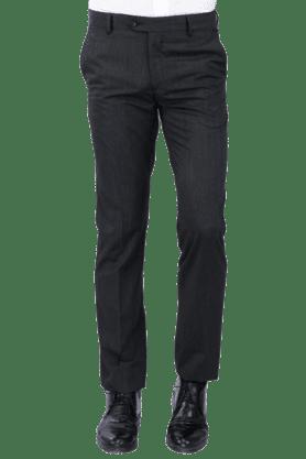VAN HEUSENMens Flat Front Slim Fit Solid Formal Trouser