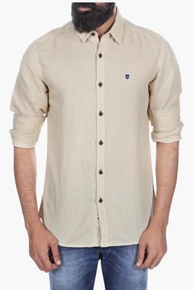 Wrangler Formal Shirts (Men's) - Mens Slim Fit Slub Shirt