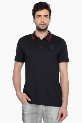 PUMAMens Short Sleeves Solid Polo T-Shirt - 201583836