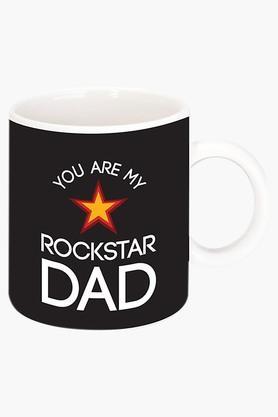 CRUDE AREA Rockstar Dad Printed Ceramic Coffee Mug  ...