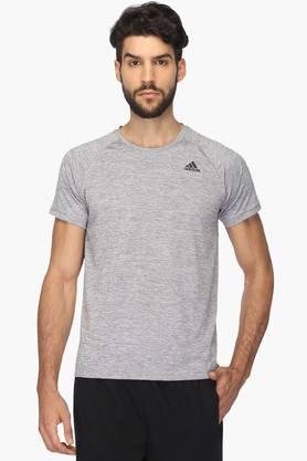 ADIDAS Mens Round Neck Slub T-Shirt - 201915547