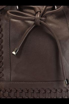 Womens Leather Rucksack Closure Shoulder Bag