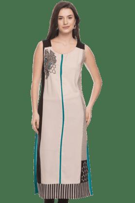 WWomens Sleeveless Embroidered Kurta