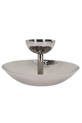 Metallic Fountain Chip and Dip Server