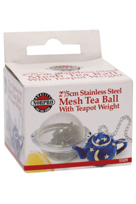 NORPRO Mesh Tea Ball With Teapot