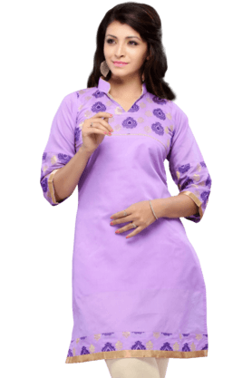 DEMARCA Womens Printed Kurta (Buy Any Demarca Product & Get A Pair Of Matching Earrings Free) - 200936881