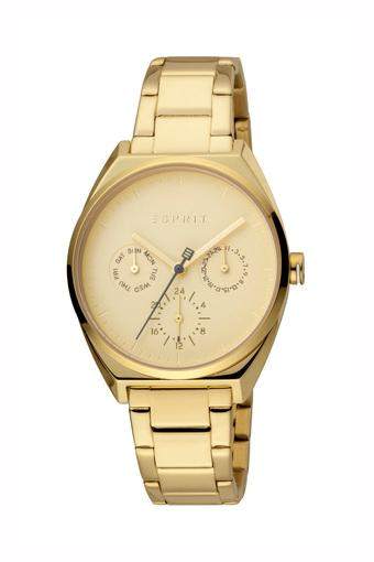 Womens Champagne Dial Stainless Steel Multi-Function Watch - WE-ES1L060M0065