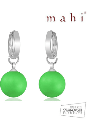 MAHI Mahi Brass Dangle & Drop Earring For Women Green - ER1104080RGr