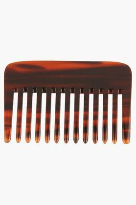 Brown Wide Teeth Comb for Wavy/ Curly Thick Short Hair and Travel- 31