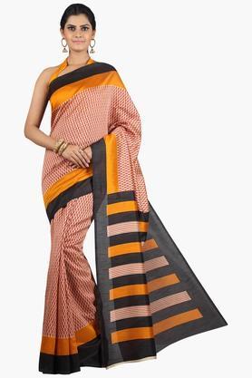 JASHN Women Tussar Silk Printed Saree  ... - 201860673