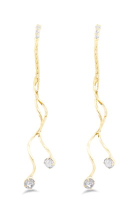 JAZZ Fashion Jewellery Long Chain American Diamond Partywear Earrings