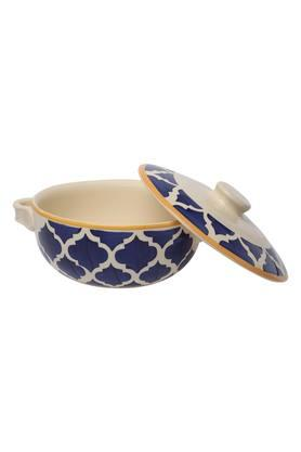 Round Printed Moroccan Casserole with Lid