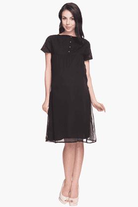 NINE MATERNITYWomens Comfort Fit Solid Dress
