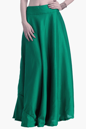 FABALLEY Womens Flared Maxi Skirt