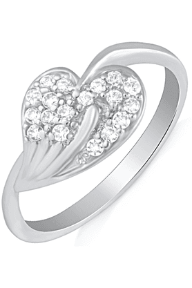 MAHIRhodium Plated Finger Ring With CZ For Women FR1100622R