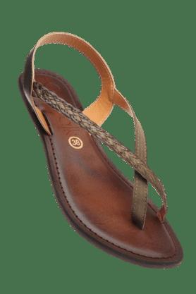 CATWALKWomens Khaki Flat Sandal