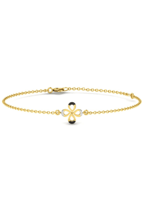SPARKLES His & Her Diamond Bracelets In Gold And Real Diamond - 0.03 Cts