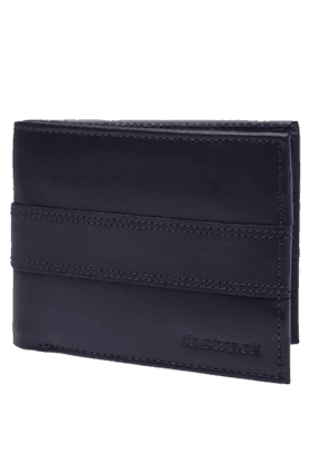 FASTRACK Mens Blue Bifold Single Strip Stitch Wallet