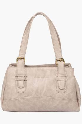 Womens Zipper Closure Synthetic Leather Tote Handbags - 201837592