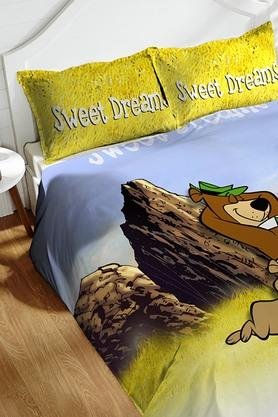 Cotton King XL Digital Printed Bedsheet With Pillow Cover - 202448903