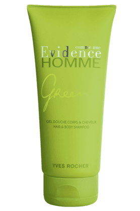YVES ROCHER Comme Une Evidence Homme Green Hair Gel & Body Shampoo 200ML